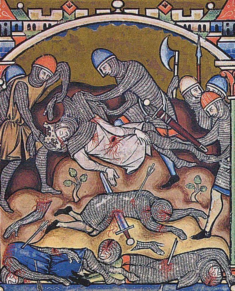 En la imagen, iluminacion de la Biblia Maciejowski, colección Morgan.