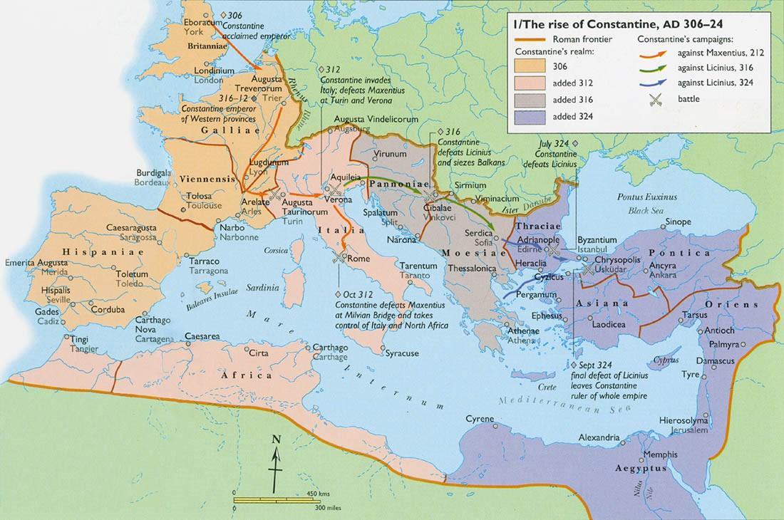 La unificación del Imperio por Constantino el Grande (306-324)