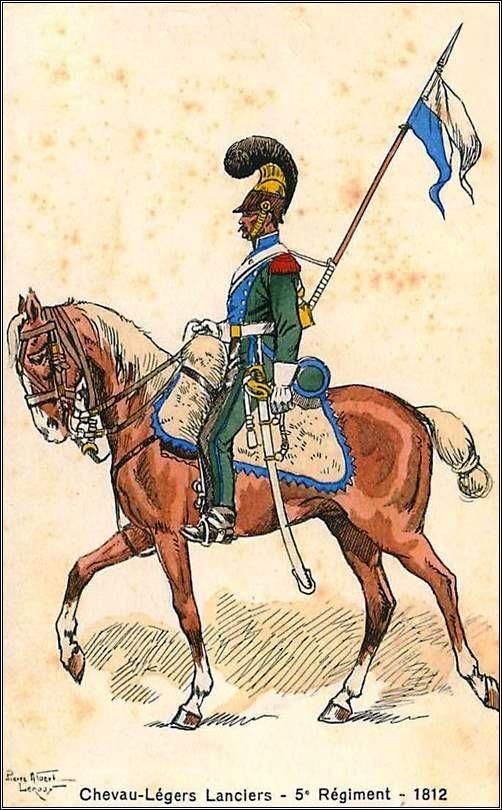Lamina de Leroux - 5º Regimiento de Chevau-Légers Lanciers