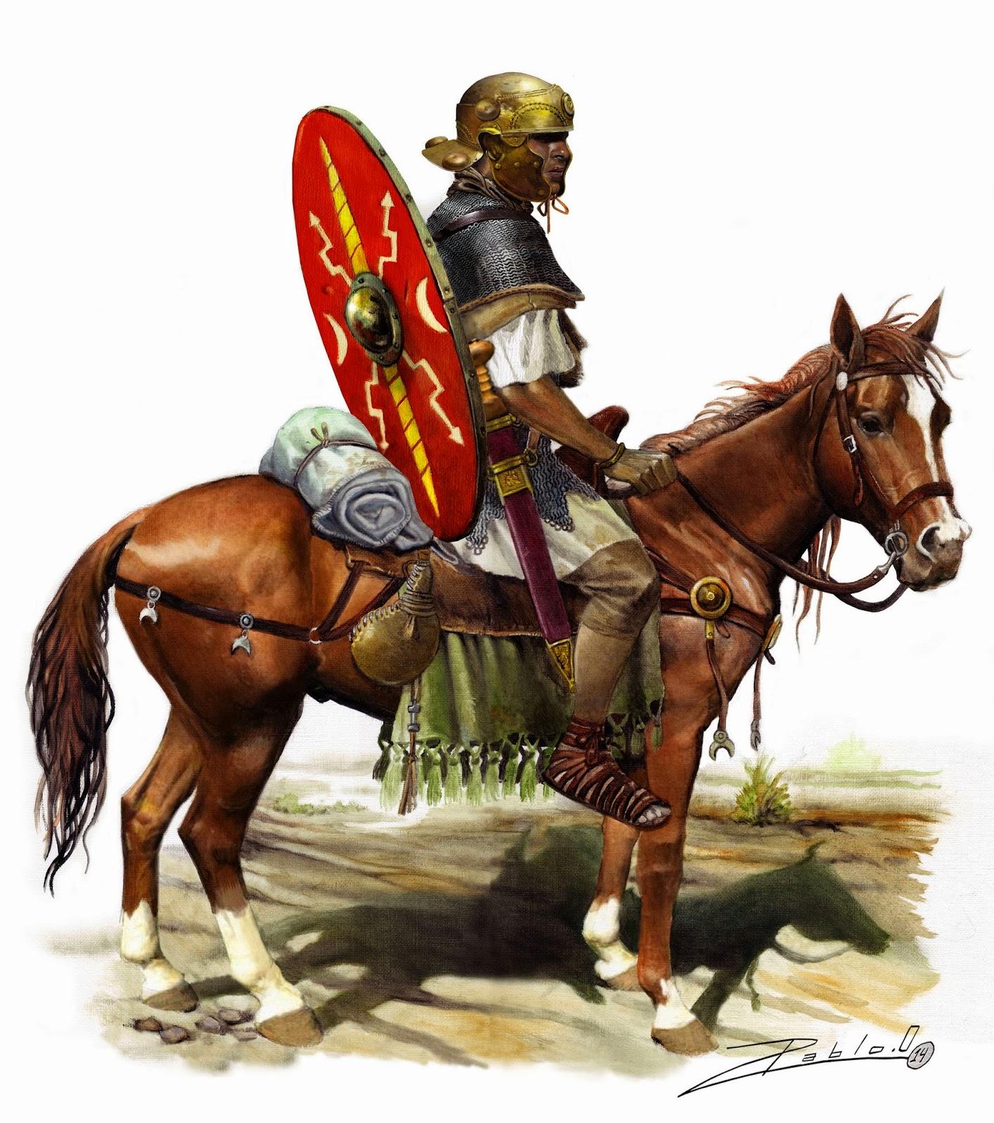Auxiliar de caballería romano, siglo I DC.